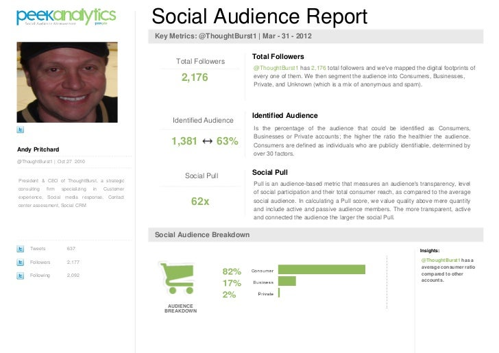 PeekAnalytics social audience report for @ThoughtBurst1 (Andy Pritchard)