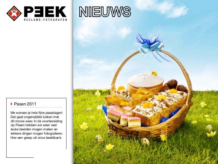 ` Pasen 2011We wensen je hele fijne paasdagen!Dat gaat ongetwijfeld lukken metdit mooie weer. In de voorbereidingop Pasen ...