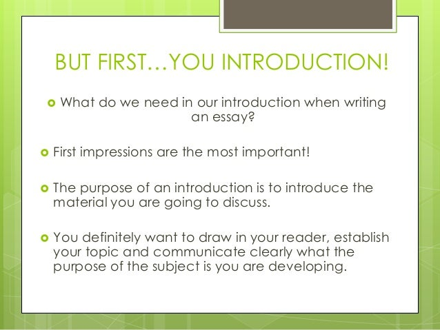 Writing introductions - Library and Learning Resources