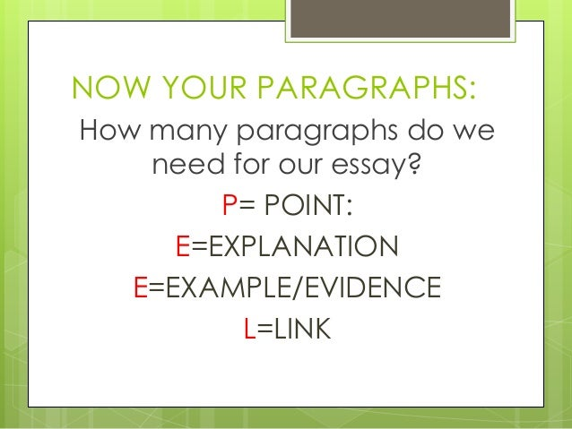 Most paragraphs in an essay are