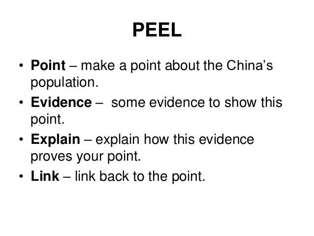 pee essay technique Peel paragraphs: useful tips and a good the results of mastering this technique will be quite visible in the such as term papers and expository essays.