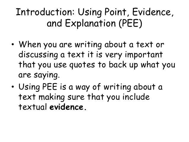 p.e.e.l in doubt writing