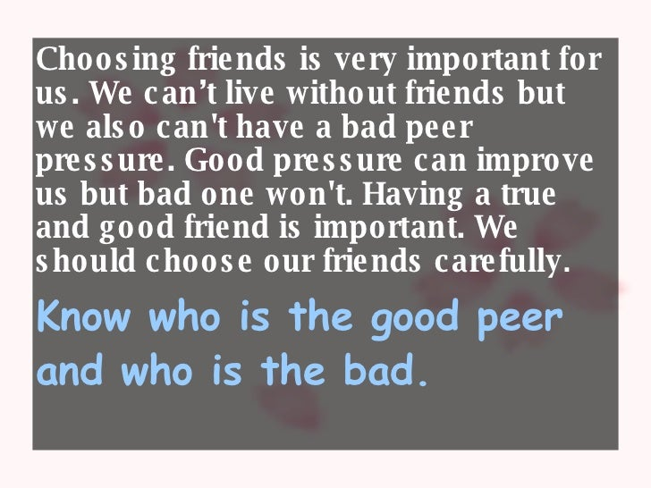 choosing a friend essay