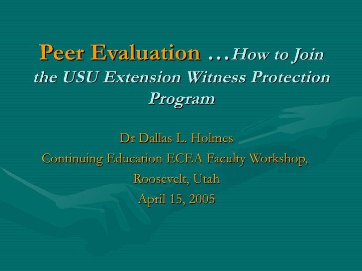 Peer Evaluation 0405