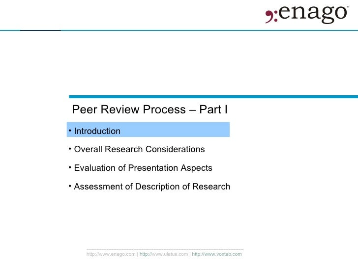 Peer evaluation criteria