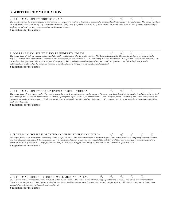 Argument essay peer review sheet