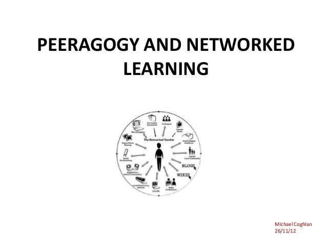 PEERAGOGY AND NETWORKED        LEARNING                     Michael Coghlan                     26/11/12