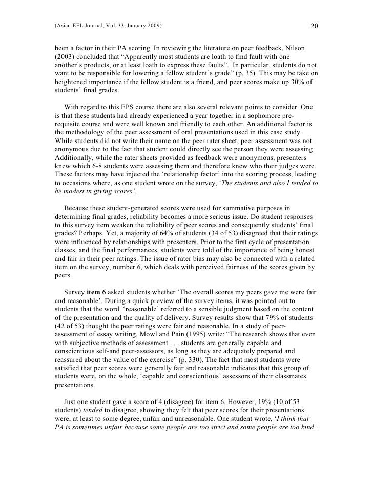 students who feel connected to peers essay Planning and guiding in-class peer review (peer review worksheet for thesis-driven essay) assign three students to each peer-review group.