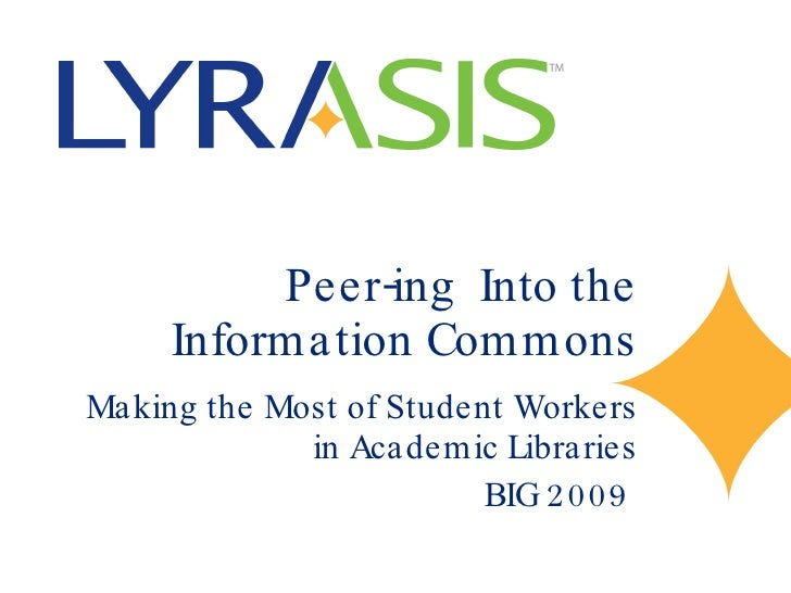 Peer-ing into the Information Commons