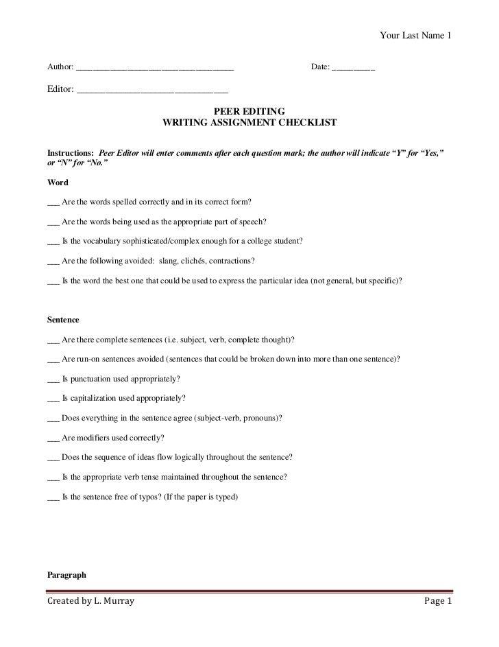 peer review term paper