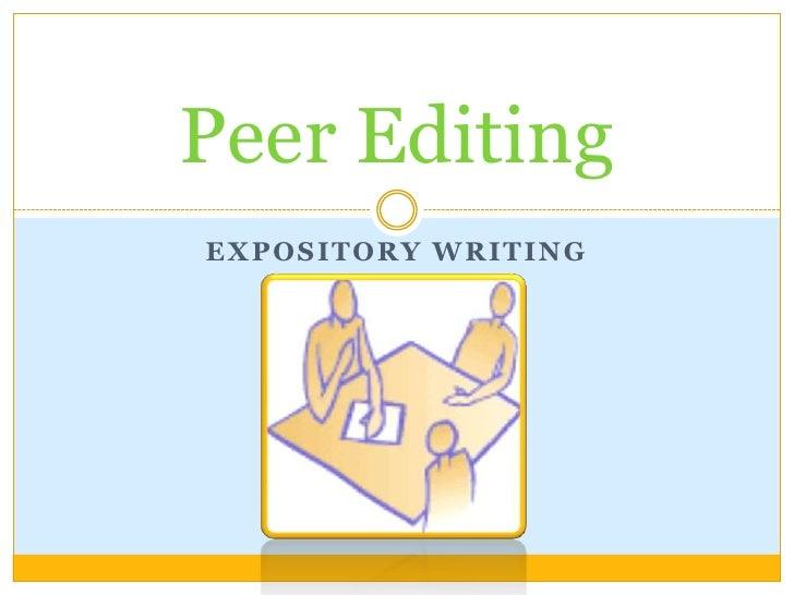 Peer editing instructions