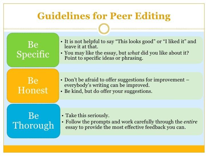 peer editing guide research paper