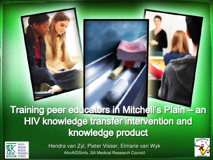 Peer education for HIV knowledge transfer