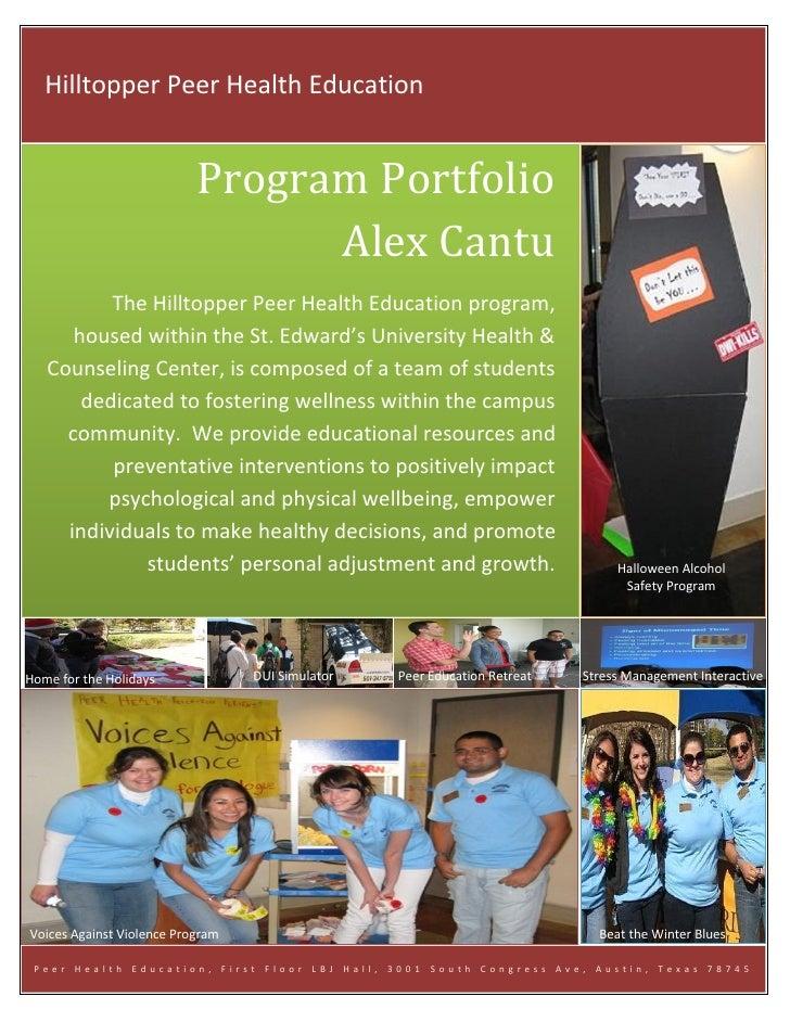 Peer education portfolio