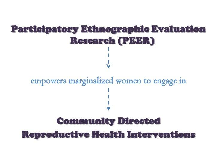 PEER empowers marginalized women (elmusharaf IFGH 2012)