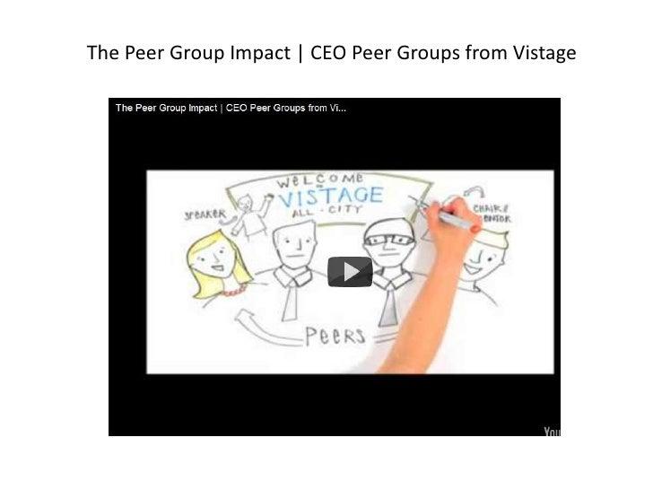 Peer Group Impact  Ceo Peer Groups From Vistage