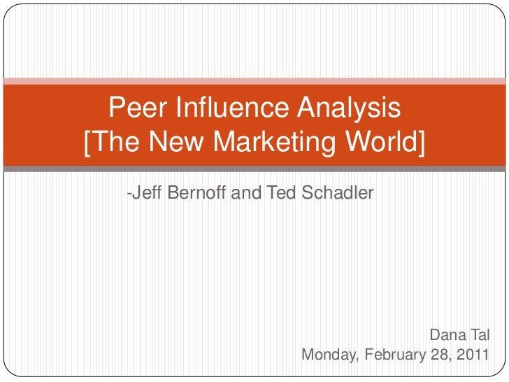 Peer influence analysis