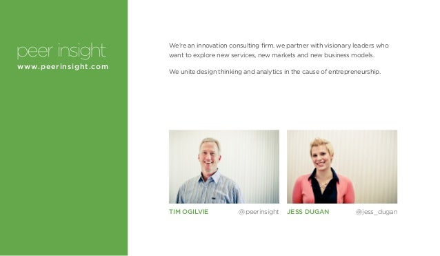 We're an innovation consulting firm. we partner with visionary leaders who want to explore new services, new markets and n...