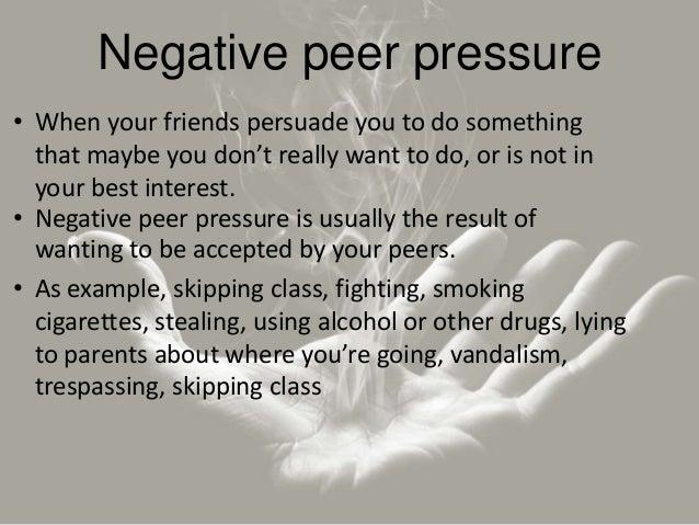 the effect of peer presure in