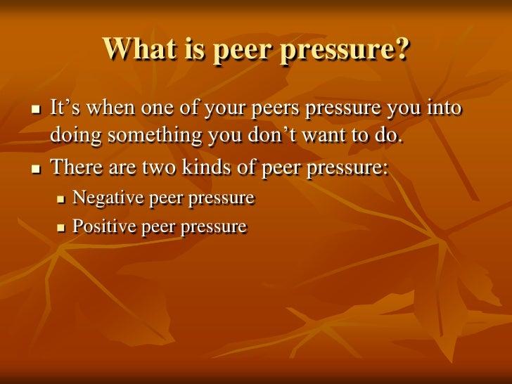 Essay on peer pressure