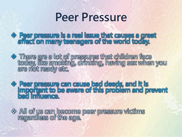 Essay on peer pressure