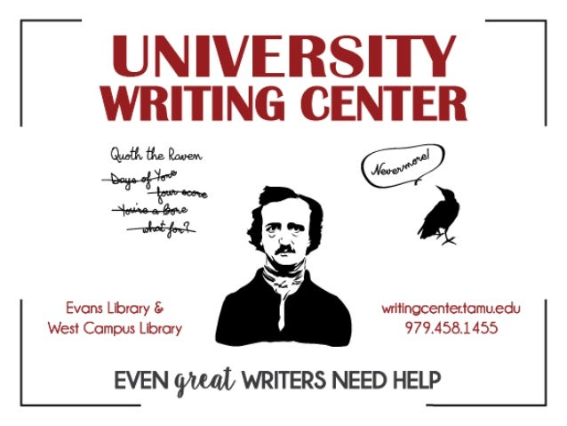 At a loss for words?214 Evans Library | 205 West Campus Librarywritingcenter.tamu.edu | 979-458-1455                      ...