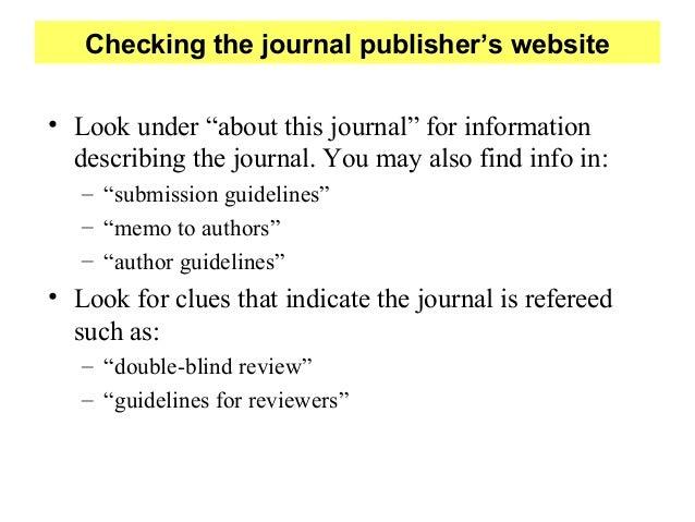 Reviewed journals
