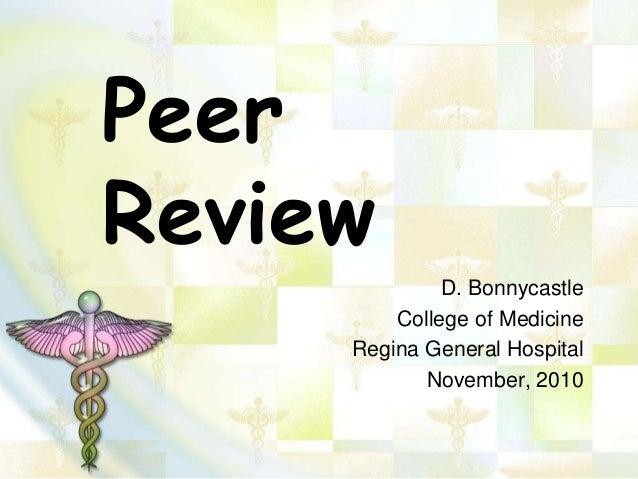 Peer Review in Medical School