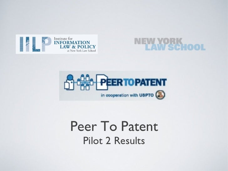 Peer To Patent  Pilot 2 Results
