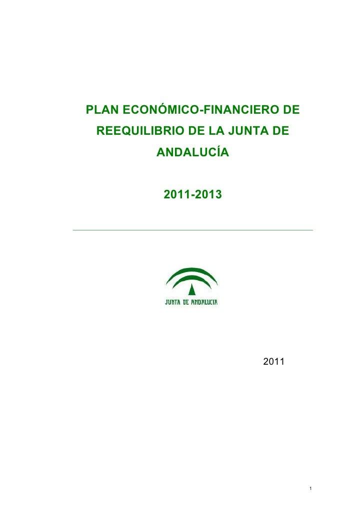 PLAN ECONÓMICO-FINANCIERO DE REEQUILIBRIO DE LA JUNTA DE ANDALUCÍA