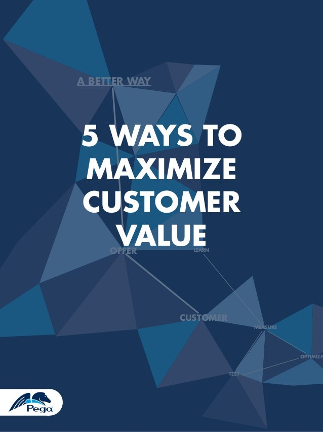A BETTER WAY  5 WAYS TO MAXIMIZE CUSTOMER VALUE OFFER  LEARN  CUSTOMER MEASURE  OPTIMIZE TEST  1
