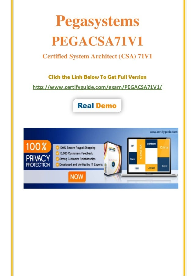 how to get pega csa certification
