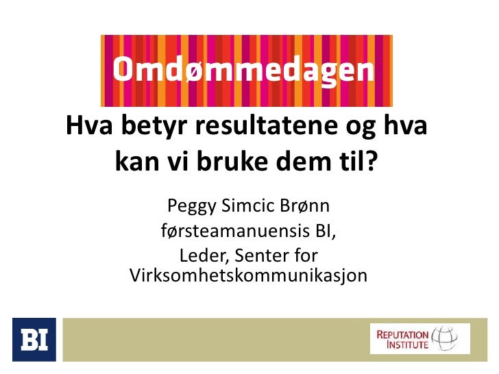 Omdømmedagen 2009: Peggy Brønn (BI)