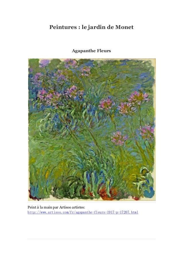 Peintures : le jardin de Monet  Agapanthe Fleurs  Peint à main par Artisoo artistes: la http://www.artisoo.com/fr/agapanth...