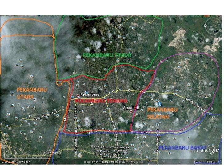 Kota-kota dan Konsentrasi Penduduk yang mengelilingi Kota Pekanbaru, beserta jaringan jalan (HANYAYANG TERDETEKSI GOOGLE M...