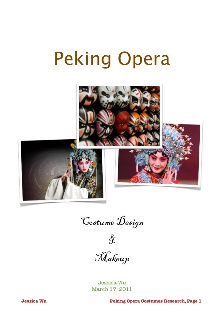 Peking opera assignment