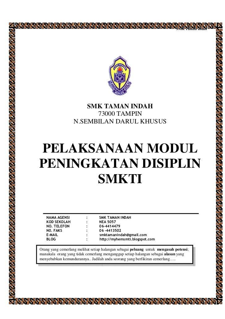 Pelaksanaan modul peningkatan disiplin