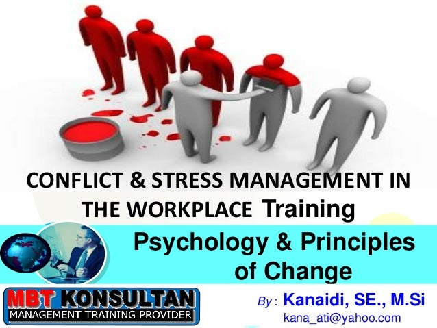 Click to edit Master title styleClick to edit Master title style Psychology & Principles of Change CONFLICT & STRESS MANAG...