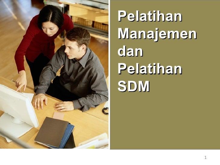 Pelatihan SDM dan Training SDM