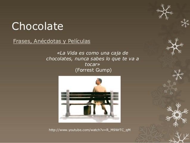 ChocolateFrases, Anécdotas y Películas                «La Vida es como una caja de            chocolates, nunca sabes lo q...