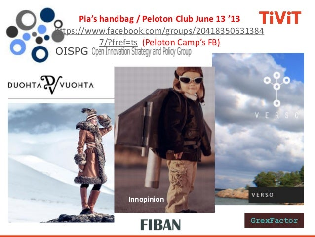 InnopinionPia's handbag / Peloton Club June 13 '13https://www.facebook.com/groups/204183506313847/?fref=ts (Peloton Camp's...
