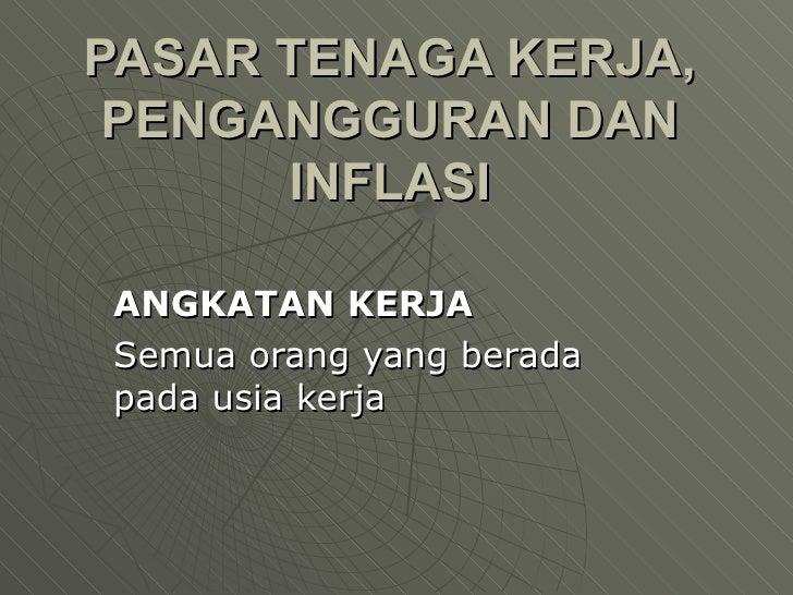 Pe Makro 11 Inflasi Pengangguran