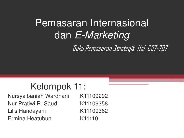 Pemasaran internasional klp 11