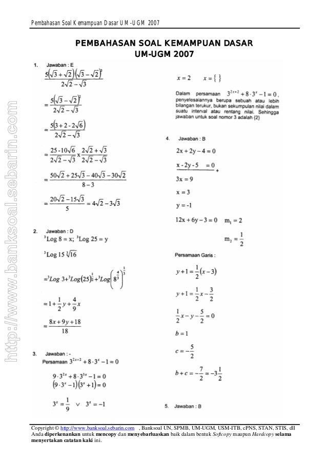 Pembahasan Soal Cpns Matematika Dasar Contoh Soal Matematika Dasar Tpa Soal Matematika Dasar