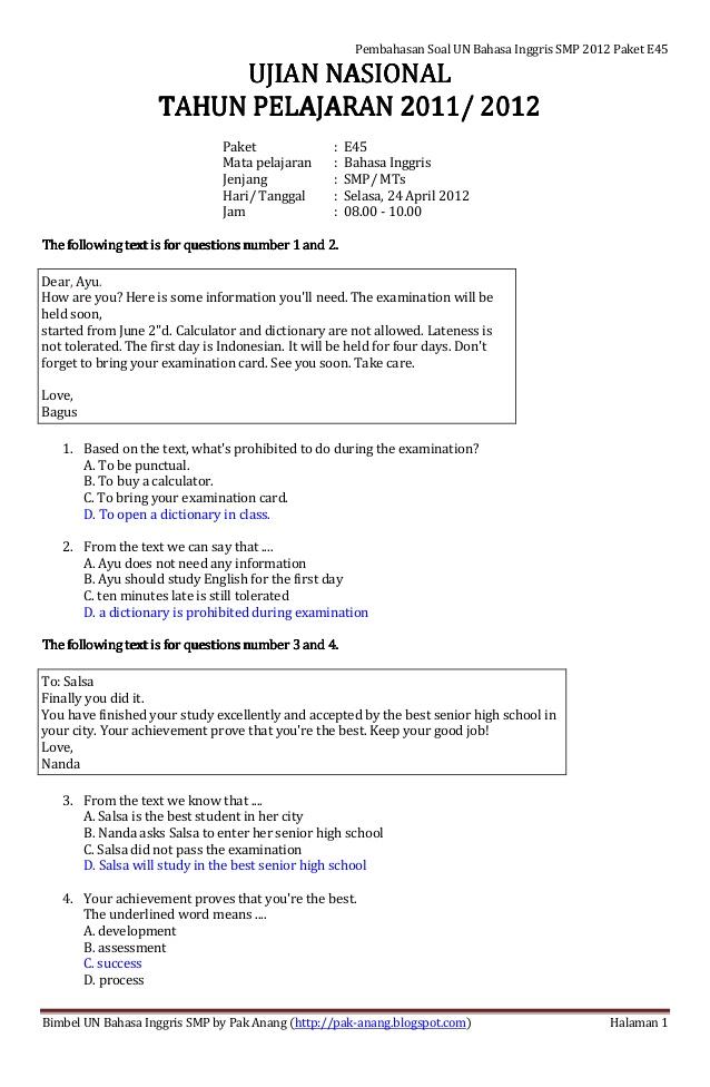 Contoh Soal Ujian Nasional Bahasa Inggris Smk 2012 Toyota