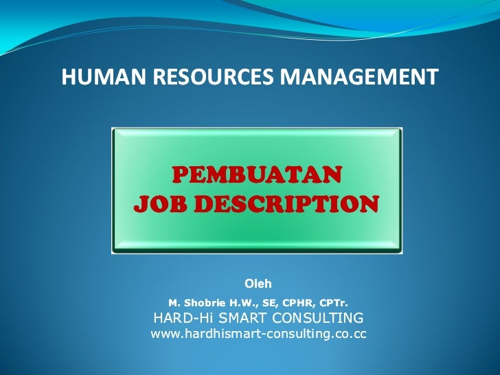 Pembuatan Job Description