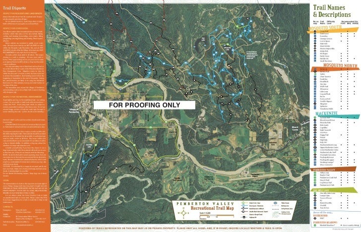 Pemberton Valley Trails Map