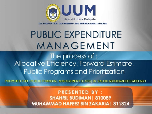 COLLEGE OF LAW, GOVERNMENT AND INTERNATIONAL STUDIES                                 PUBLIC EXPENDITURE                   ...