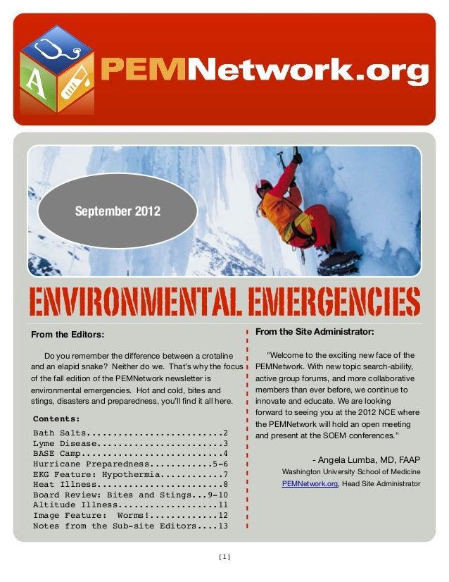 PEM Network Sep '12 Newsletter