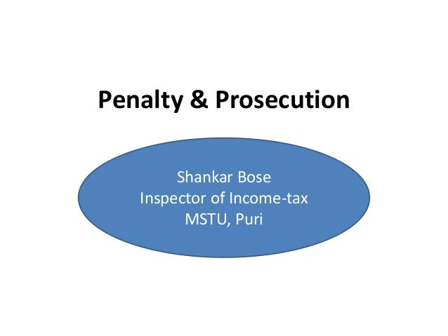 Penalty & prosecution